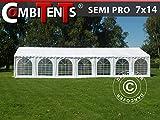 Dancover Carpa para Fiestas Carpa Eventos, Semi Pro Plus CombiTents® 7x14m 5 en 1, Blanco