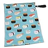 Süße Sushi-Windeltasche mit Reißverschlussfach, wiederverwendbare Wickeltasche