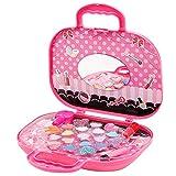 BELUPAI Beauty Makeup Toys Kits, Pretend Play Princess Cosmetic Set for Girls Birthday, Pink