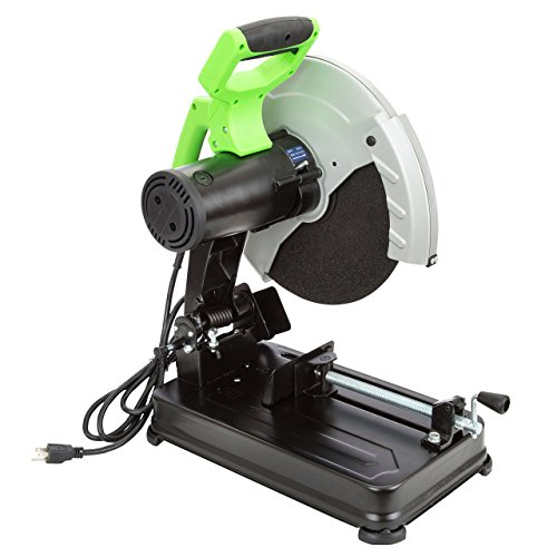 """OEMTOOLS 24497 14"""" Chop Saw, Power Saw Cuts Steel, Pipe, Wood, Tubing, and Other Dense Materials, Power Tools, 15 Amp Motor, Comes Ready to Use, Green and Black"""