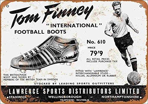 Jotora Pintura de estaño con diseño de botas de fútbol, cartel de...