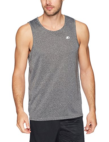 Starter Men's TRAINING-TECH Running Tank Top with Ventilation, Amazon Exclusive, Iron Grey, Large