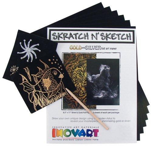 INOVART 1108 Scratch Paper, 8.5' x11', Multicolor