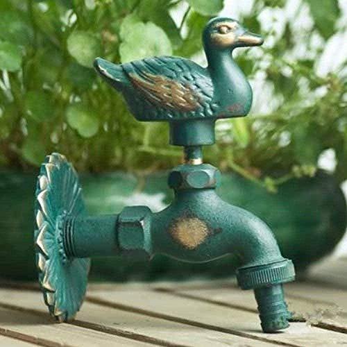 Robinet de jardin en forme d'animal de jardin en laiton antique vadrouille de lavage de canard/robinet animal d'arrosage de jardin