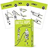 Battle Rope Exercise Cards, Set of 62 :: with Guided Strength Training Workouts