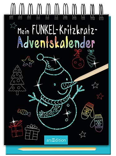 Mein Funkel-Kritzkratz-Adventskalender - Ein zauberhafter Kritzkratz-Block für Kinder