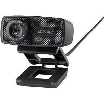 BUFFALO WEBカメラ 120万画素 1280x720 HD対応 30fps 視野角63° F2.2 マニュアルフォーカス CMOSセンサー ケーブル1.5m ブラック BSWHD06MBK