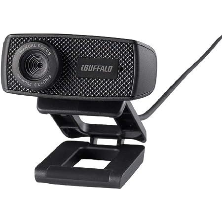 バッファロー WEBカメラ 120万画素 1280x720 HD対応 30fps 視野角63° F2.2 マニュアルフォーカス CMOSセンサー ケーブル1.5m ブラック BSWHD06MBK