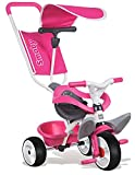 Smoby - 444207 - Tricycle Baby Balade - Tricycle Evolutif avec Roues Silencieuses - Dispositif Roue Libre - Rose