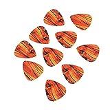 KXIUOA Juego de púas de Guitarra, púas de Guitarra, púas de Guitarra, 10 Piezas de púas de Guitarra de plástico, Accesorios para Instrumentos Musicales de bajo Ukelele