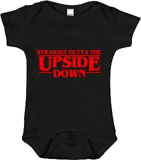 "Acen Baby ""Stranger Things Inspired - Straight Outta The Upside Down"" - Baby Bodys/Strampler 100% Baumwolle 3-6 Monate"