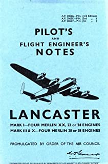 Air Ministry Pilot's Notes: Lancaster I, III and X