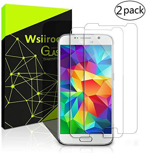 wsiiroon Panzerglas für Samsung Galaxy S6, [2 Stück] 9H Härte Schutzfolie, HD Displayschutzfolie, Anti- Kratzer, Anti-Öl, Anti-Bläschen Displayschutzfolie