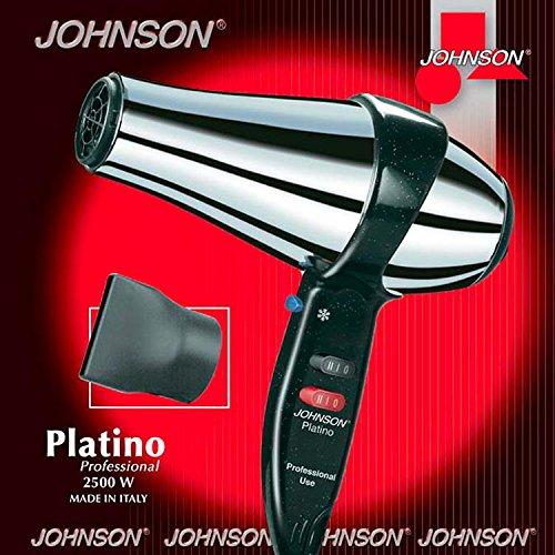 JOHNSON - Secador de pelo profesional platillo 2500 W, 2 interruptores, 2 velocidades para 3 temperaturas