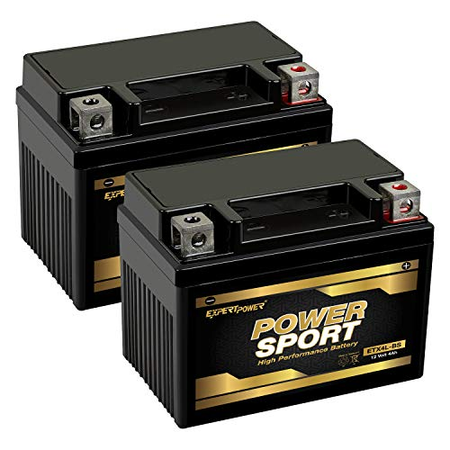 ExpertPower ETX4L-BS Powersport Replacement (YTX4L-BS, YT4L, YTX4L, YT4L-BS, GTX4L-BS, GT4L-BS, GTX4L, GT4L WPX4L-BS Sealed AGM For Arctic Cat, Polaris, Brp)