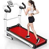 Cintas de correr, Cinta de correr mecánica plegable Inicio Pequeña Máquina de caminata silenciosa Equipo de aptitud deportivo, con pantalla LED y Función de prueba de frecuencia cardíaca huangcui