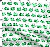 Frosch, Kröte, Tier, Smaragdgrün, Kindisch, Kuss Stoffe -