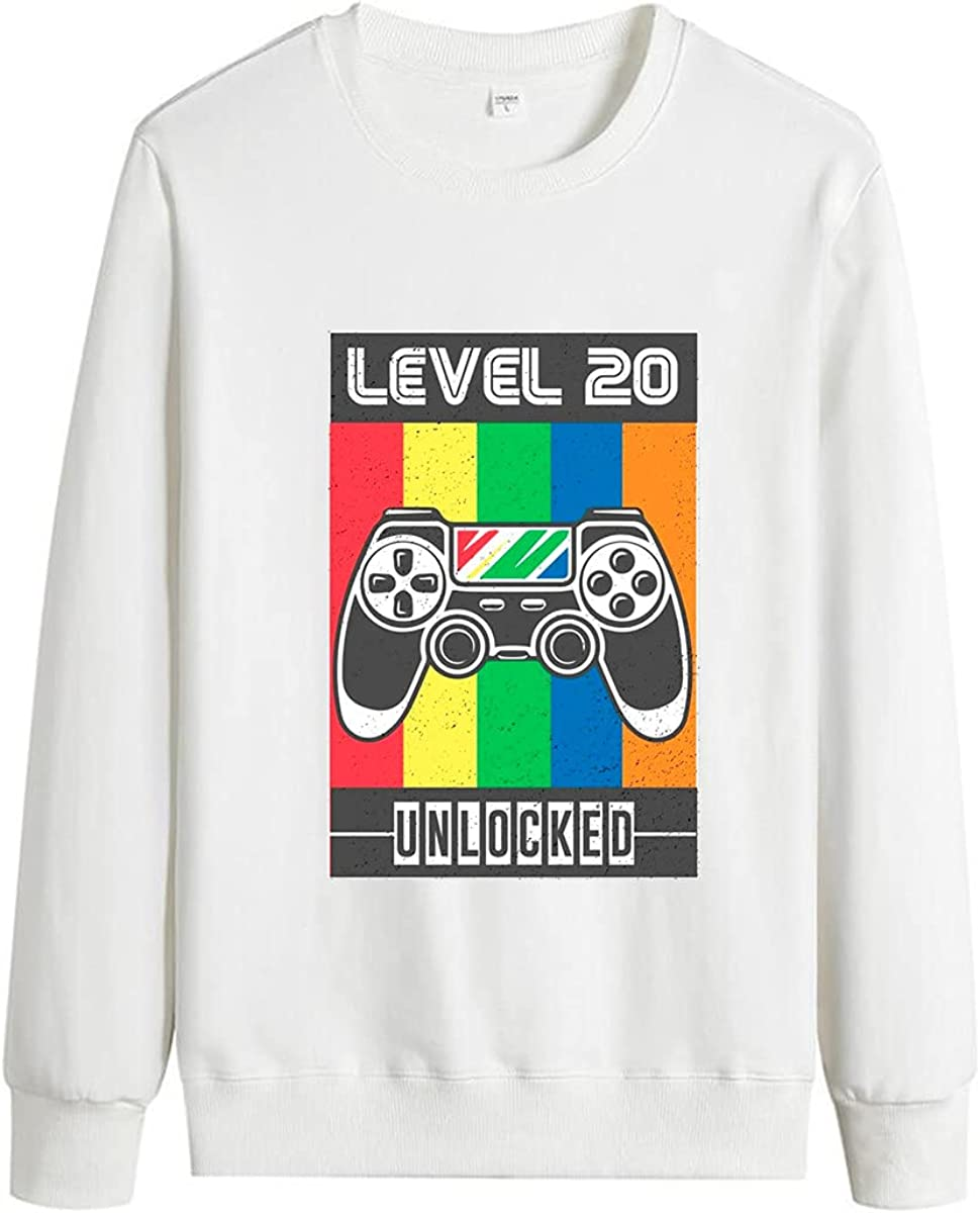 Men's Game Player Cotton Pullover Letter Print Pullover Game Element Pullover