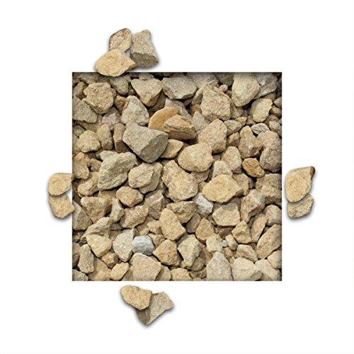 25 kg Kalksteinsplitt Gelb Gartensplitt Ziersplitt Deko Kalkstein Dekoration Splitt Körnung 5/15 mm
