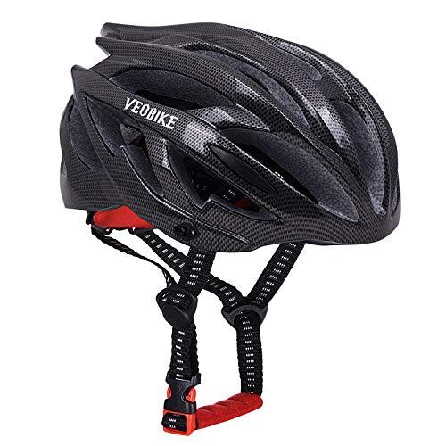 Elikliv negro de un tamaño negro bicicleta de montaña cascos bicicleta carretera ultraligero casco MTB Racing patinaje deportes seguridad equipo ciclismo Accesorios