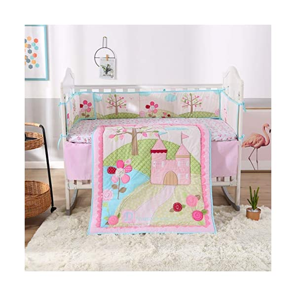 Wowelife Crib Set-Pink-2