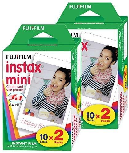 FujiFilm Instax Mini Film (40 Fotos) Multi Pack para Mini 8-9 y Todas Las cámaras Fuji Mini