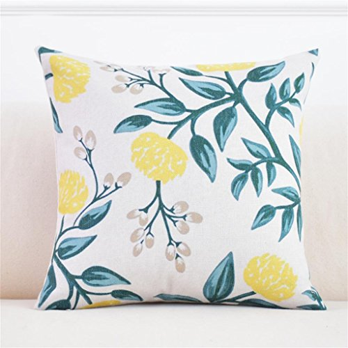 45 * 45cm oreiller jardin chevet oreiller bureau canapé coussins tissu maison