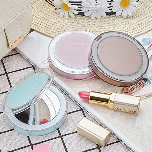 YaGFeng Miroir de Maquillage Pocket Make Up Vanity Light Miroir for Dame Filles Petit Rechargeable Folding LED Miroir de Maquillage (Color : Green, Size : 12.3cm x 12.3cm x 3.5cm)