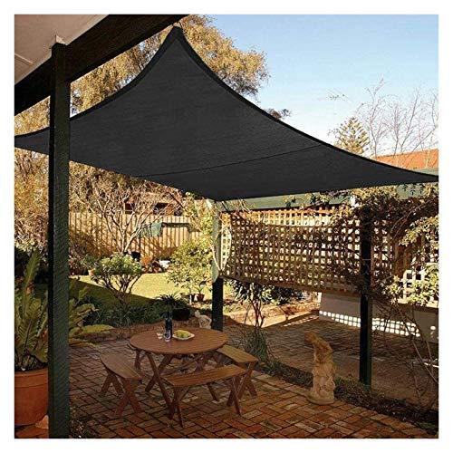 ZXD Toldo Vela De Sombra Impermeable For Patio, Rectángulo Resistente Al Agua Proteccion Solar Toldo con Protección Solar con Cuerdas De Fijación para Exterior Interior (Color : Black, Size : 2.5x3m)