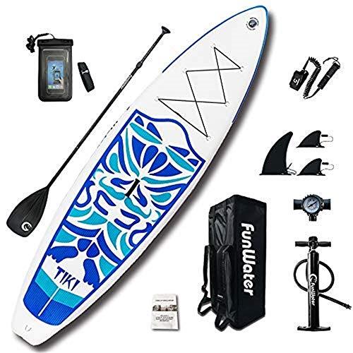 Kayaks hinchables Tabla de Paddle Surf Hinchable Kit, Bomba de Aire Sup con manómetro, Paleta Ajustable/Mochila Duradera Grande, 6 Pulgadas de Grosor, Modelo Sprint, tamaño: 320 * 84 * 15 cm