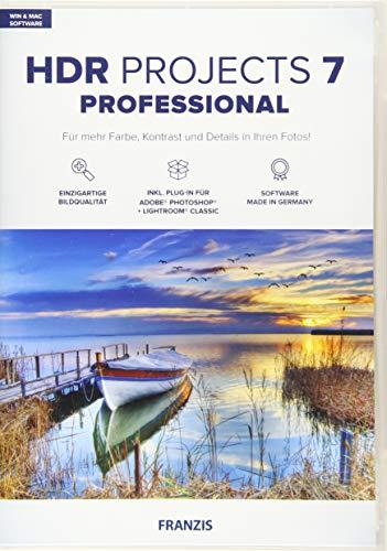 FRANZIS HDR projects 7 professional Bildbearbeitung HDR Fotos für Laien und Profis Incl. Photoshop PlugIn für Windows & Mac Disc Disc
