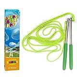 E-Know 2 Pack Seifenblasen-Stab Riesenseifenblasen für Seifenblasen Partei-Edelstahl machte das teleskopische Entwurfs-einfache Tragen für Garten Spielzeug Outdoor Spielzeug