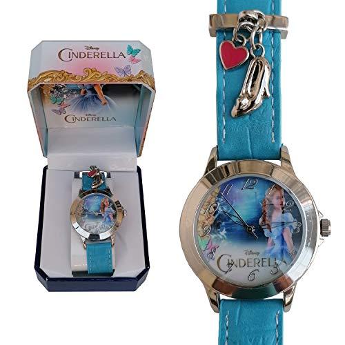 Disney- Cinderella Live La Cenicienta Montre Analogique, WD16689, Bleu