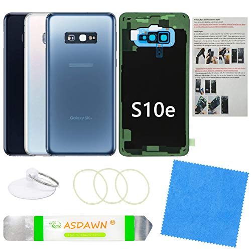 Galaxy S10e Replacement Back Glass Panel Case with Installation Manual  PreInstalled Camera Lens  All The Adhesive  Repair Tool Kit for Samsung Galaxy S10e SMG970 All Carriers Prism Blue