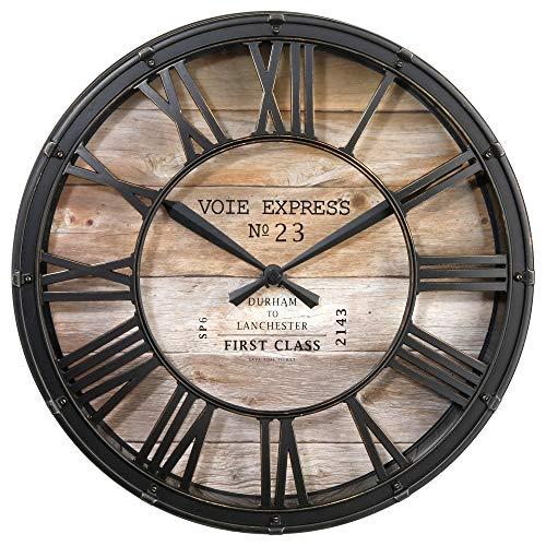 Horloge Pendule Murale Style Vintage - diamètre 39 cm...