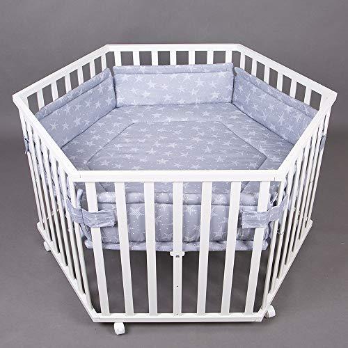 Parc bébé de luxe parc enfant 6 square parc de bebe BLANC 63200-D02