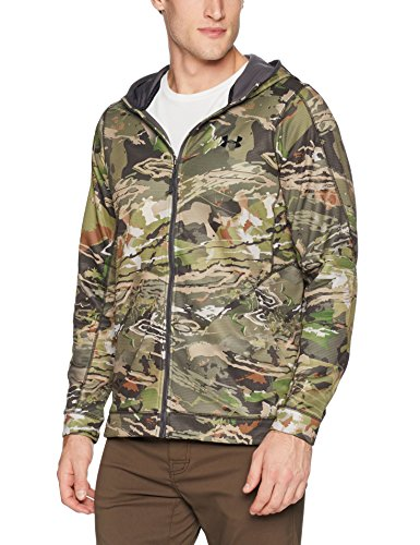 Under Armour Men's Stealth Reaper Early Season Hoodie, Ua Forest Camo (940)/Black, Medium