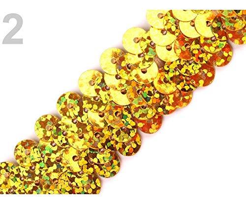 Gold//Silber Kunststoff 13/mm 20/g efco Pailletten 90
