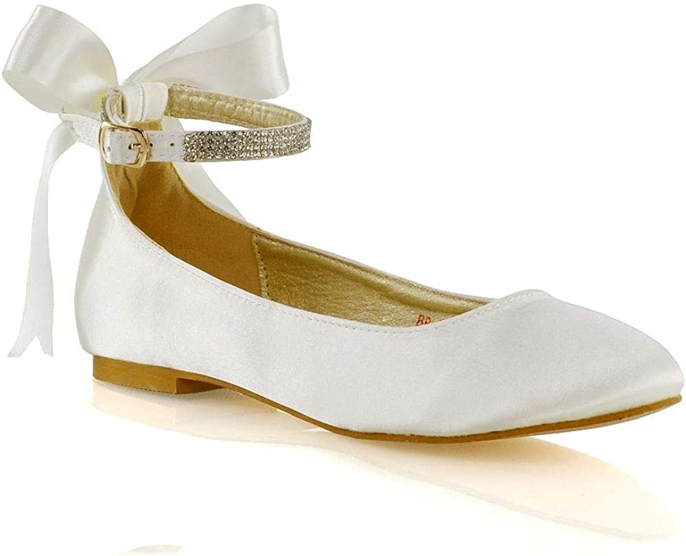 ESSEX GLAM Womens Ankle Shoes Credence Strap Max 71% OFF Ladies Pumps