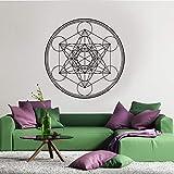 Disco de vinilo mural Autocollant, diseñado por Metatron Cube Alchemy |Adhesivo de pared decorativo Mandala del mural Collantant A3 57x57cm