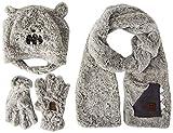 Tuc Tuc Gorro, Bufanda Y Guantes Pelo MAMMOUTH Juego de accesorios de invierno, GRIS, 52 para Niños