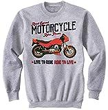 Teesandengines Moto Guzzi V50 Monza Felpa Grigia Size XXLarge