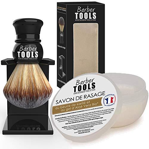 ✮ BARBER TOOLS ✮ Kit de afeitado | Brocha de afeitar + jabón de afeitar 150ml