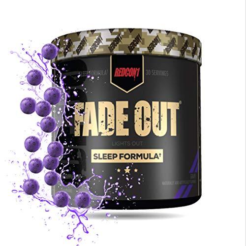 Redcon1 - Fade Out (Newly Formulated) 30 Servings, Sleep Formula, Melatonin, Chamomile (Grape)