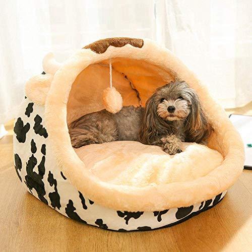 8bayfa, hondenmand voor vier seizoenen van de kat, universele hondenhond, klein demonteerbaar en wasbaar, met huisdierbed, kleur roze Lamb_M11