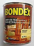 Aceite de Teca Bondex Incoloro 0.75 L.