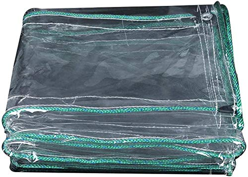 Waterdicht Heavy Duty dekzeil Transparant dekzeil, ideaal voor autohoes, machinekap, luifel, windbeschermer, privacymuur, picknickmat, verfschild, bootkap, vissen, zwembadafdekking, caravans