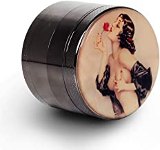 Pin Up Girl Grinder Titanium Premium Herb Grinder 2.2