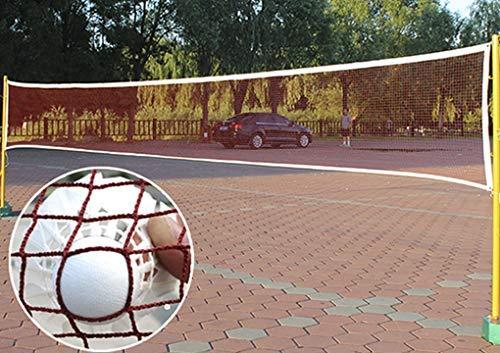 Portable Badminton Net Beach Volleyball Net for Indoor Outdoor Sports Garden Schoolyard Backyard,610 x 76 CM Standard Folding Competition Training Net Nylon Tennis Soccer Pickleball Nets (2.0cm net,)