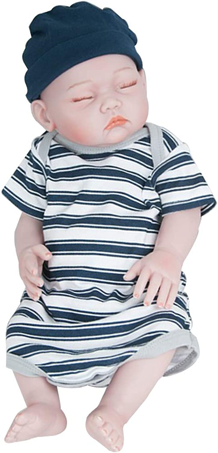 Homyl 20inch Reborn Doll Silicone Full Body, Reborn Infant Baby Doll Realistic Toddler Model, Kids Sleeping Appease Toys Birthday Gift